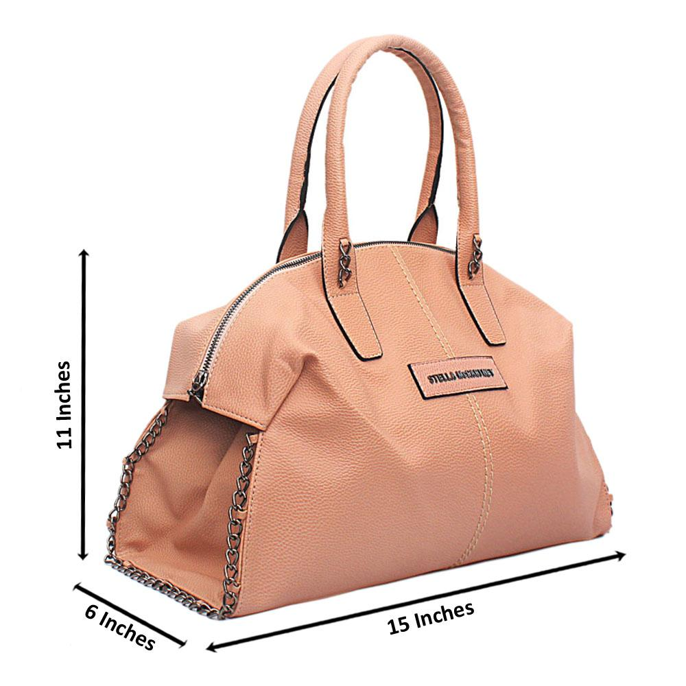 Peach Leather Stella Handbag
