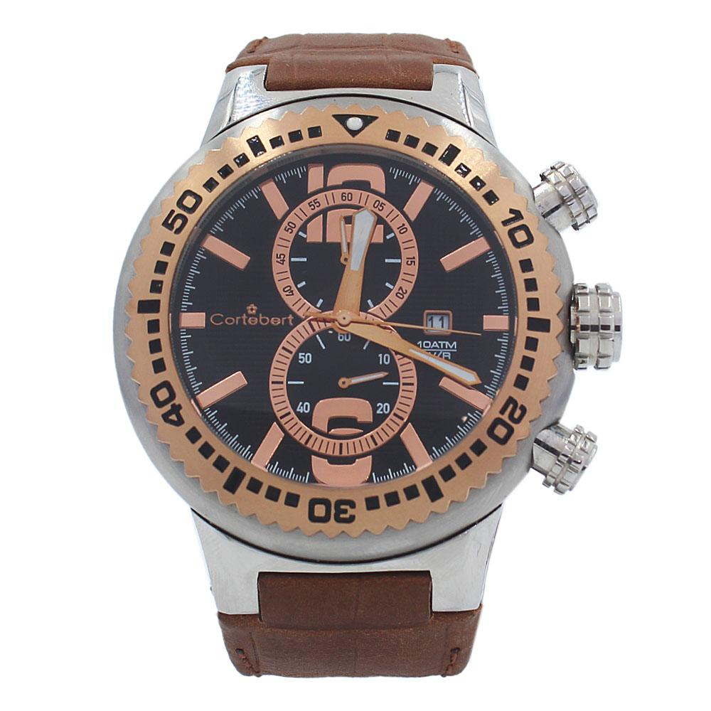 Brown Big Bang Leather 10 ATM Water Resistant Watch