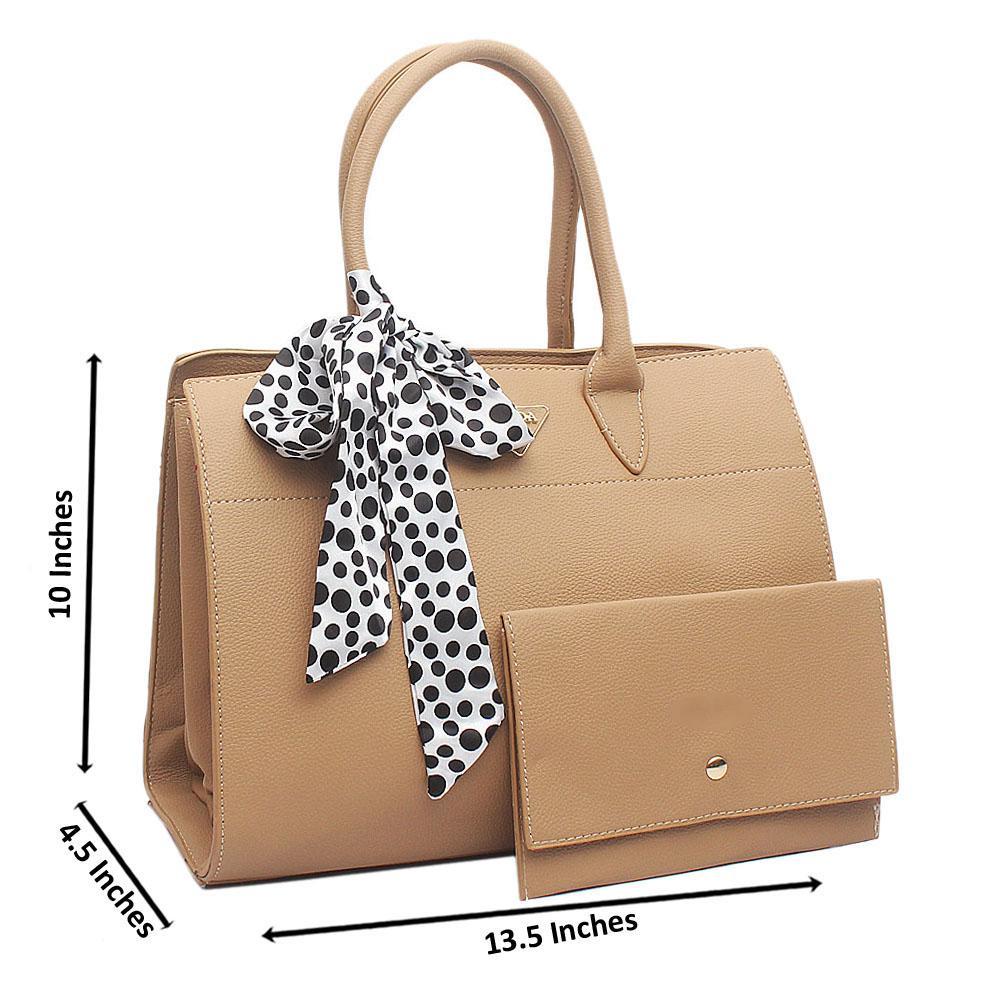 Camel Brown Medium Biblitheque Leather Handbag