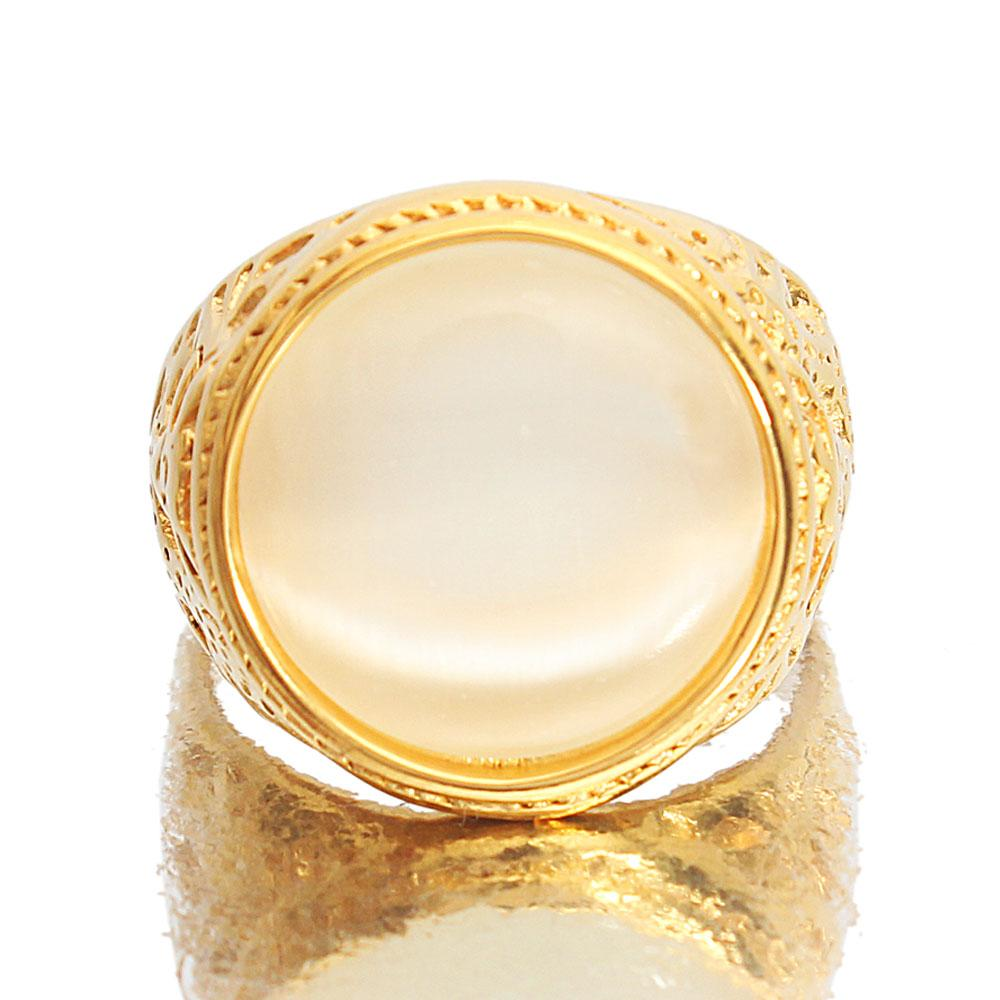 Gold Steel Ice Classic Ring
