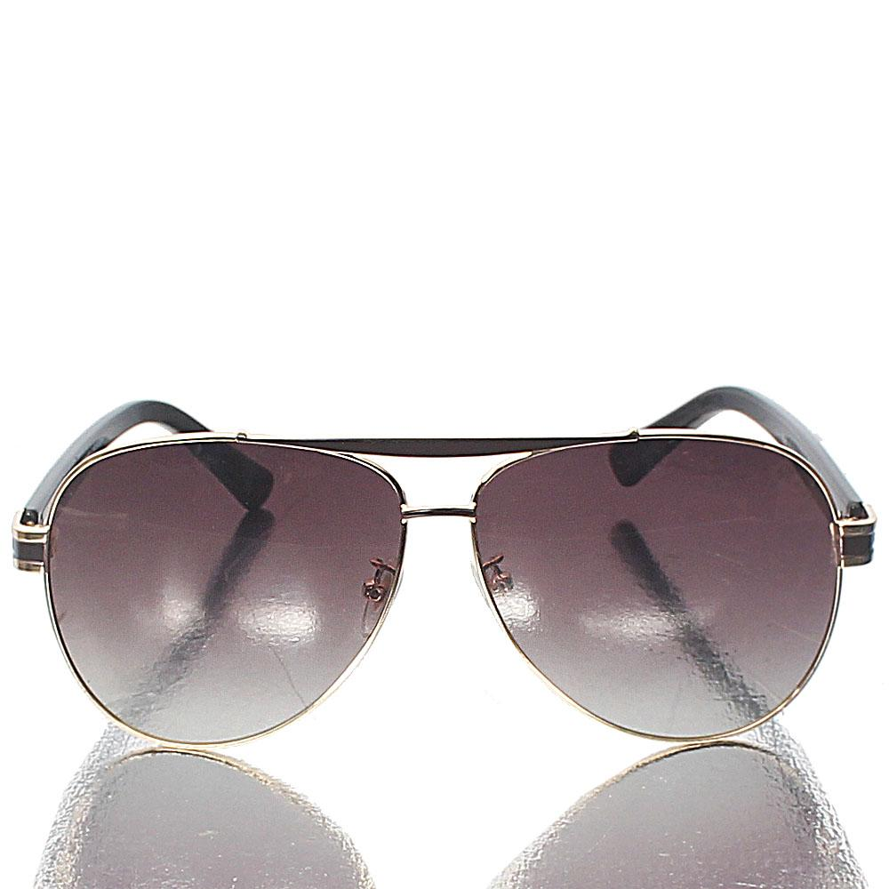 Gold Brown Pilot Sunglasses