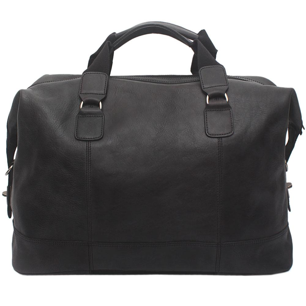 Collezione Nubuck Black Exotic Leather Travelling Bag