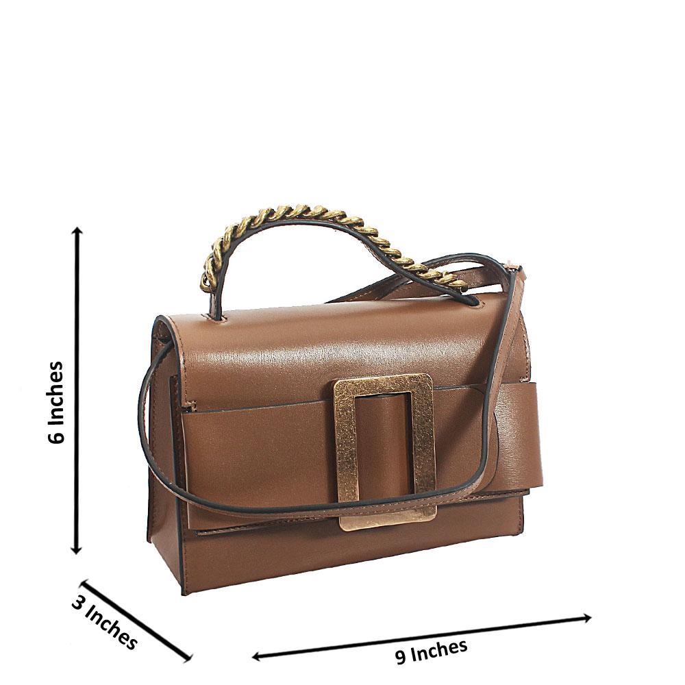 Deep Brown Deka Tuscany Leather Mini Handbag