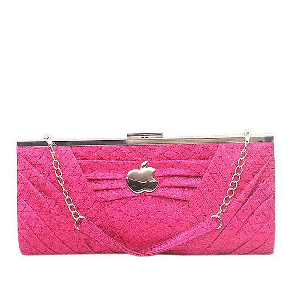 Apple Pink Glitz Big Clutch Purse-