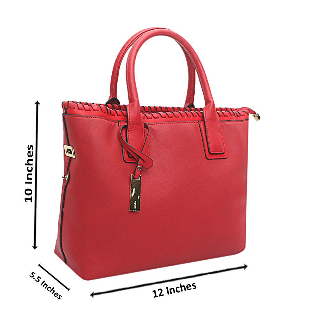 Susen-Red-Leather-Tote-Bag