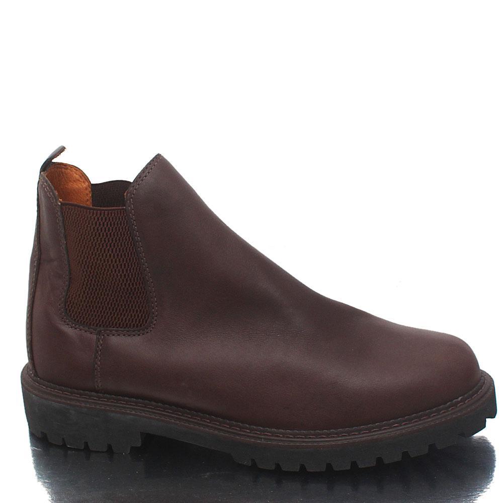 M & S Blue Harbour Brown Leather Ankle Men Shoe