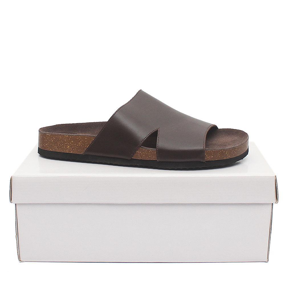Kurt Geiger Coffee Brown Premium Leather Men Slippers