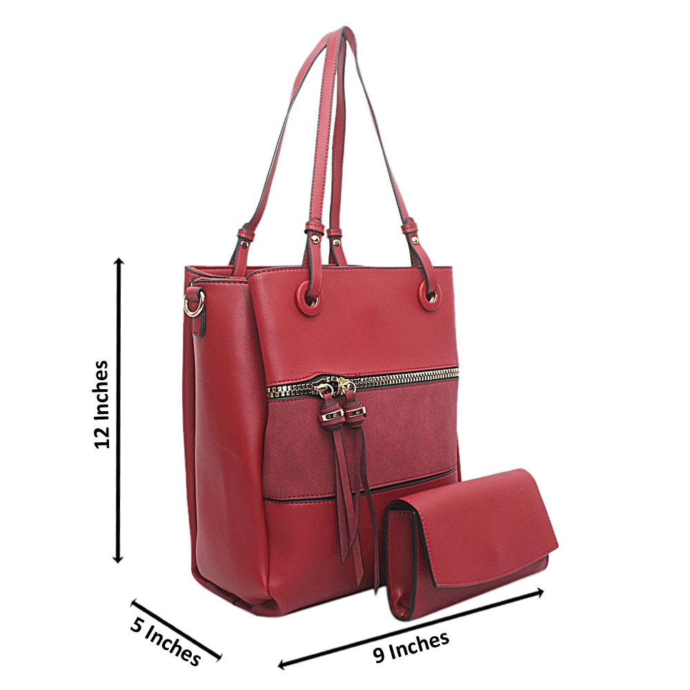 London Style Red Leather Handbag