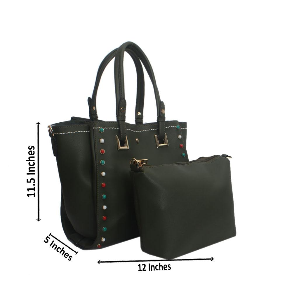 Green Plane Eva  Leather Tote Handbag
