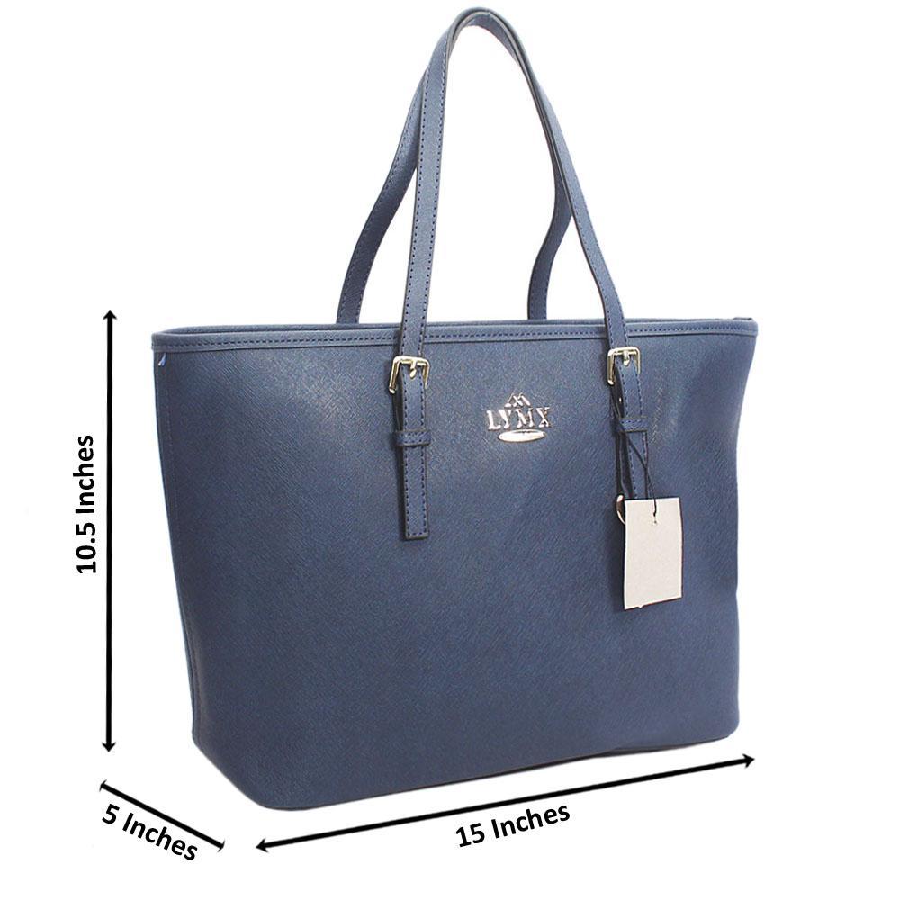 Berry Blue Median Jet Set Item Shoulder Handbag
