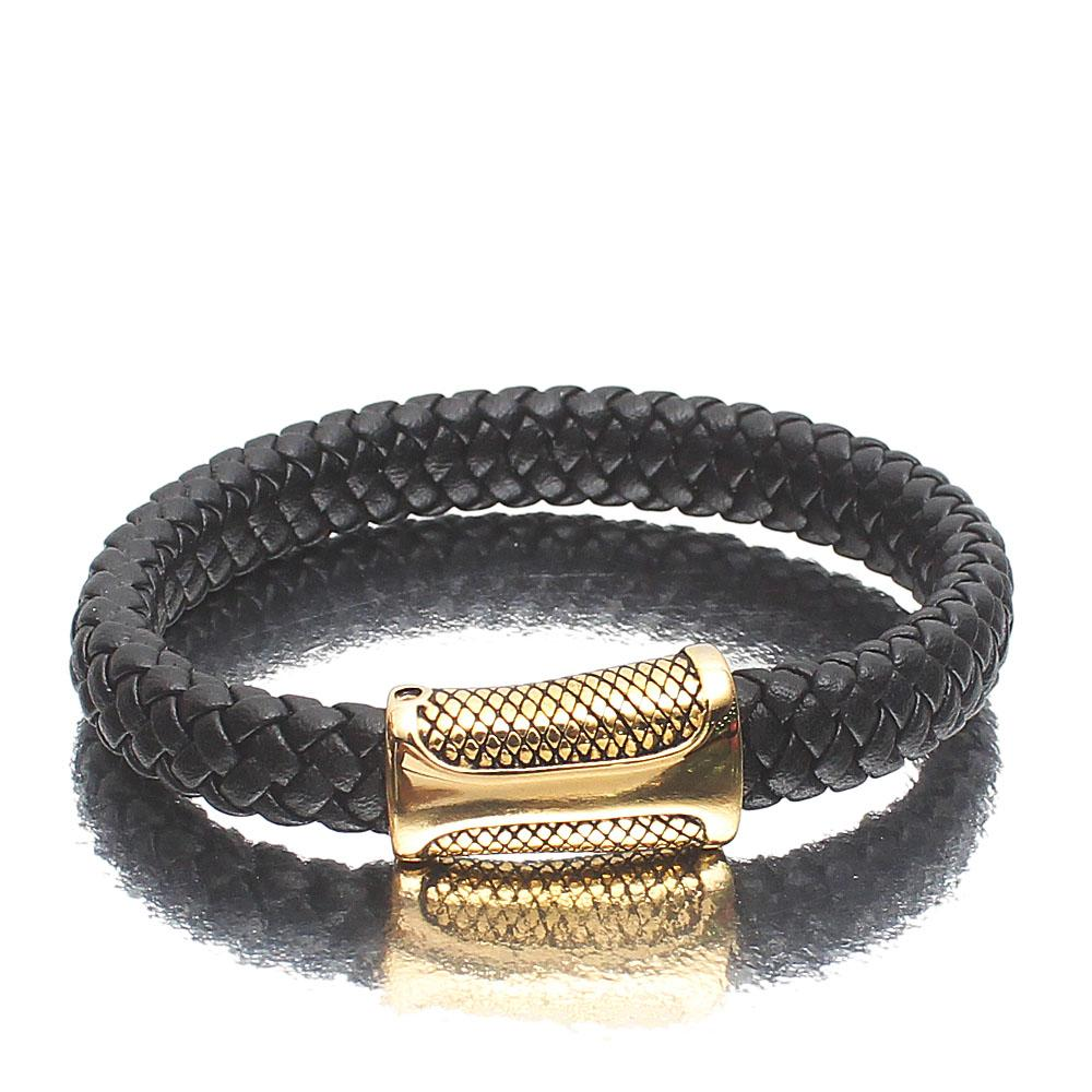 Emirati Gold Leather Bracelet