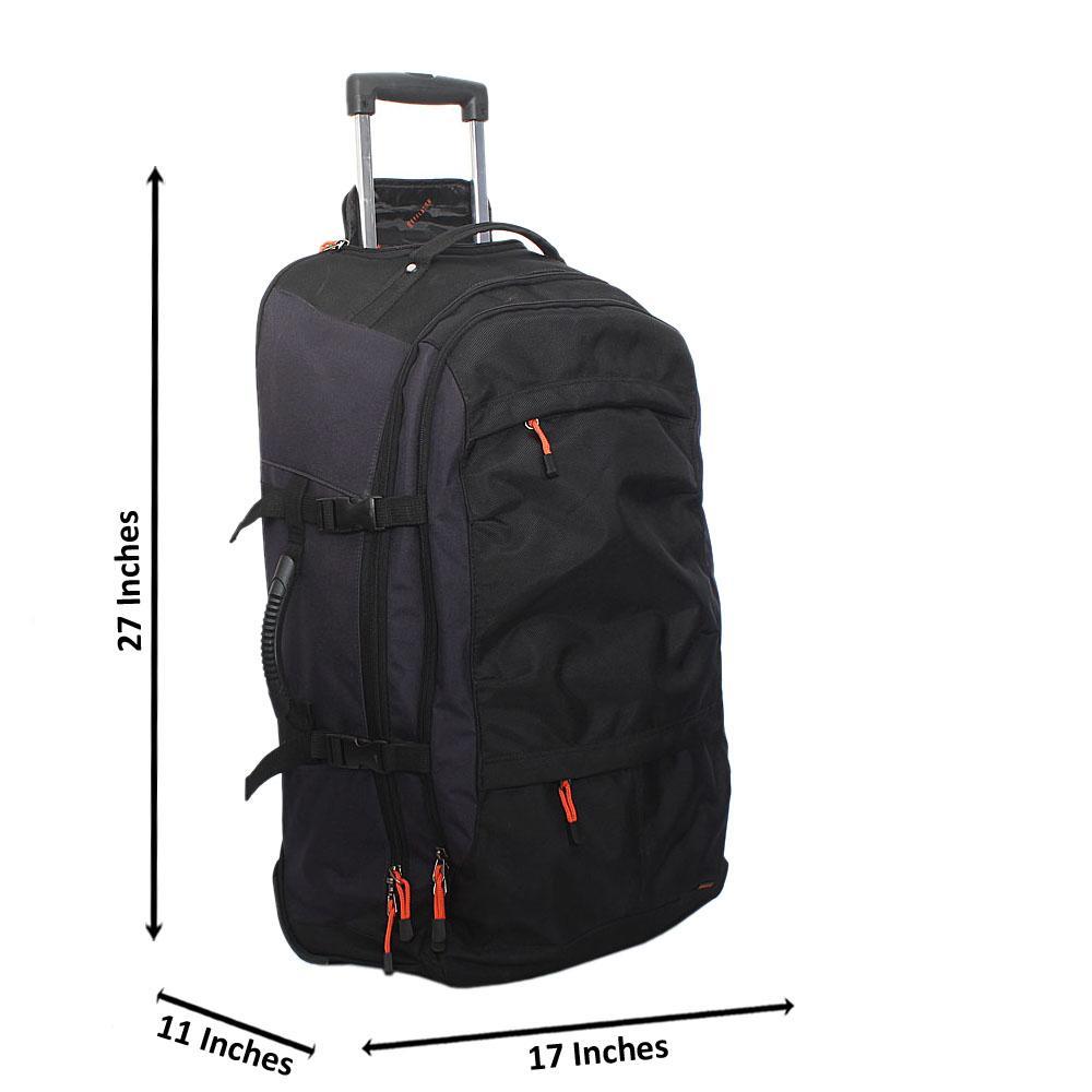Revelation Black Gray 27 Inch Fabric 2 Wheels Medium Luggage Wt Lock