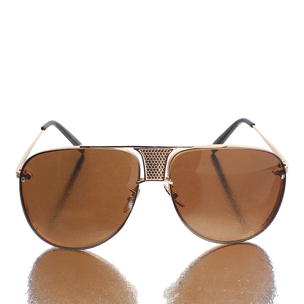 Gold Aviator Brown Lens Sunglasses