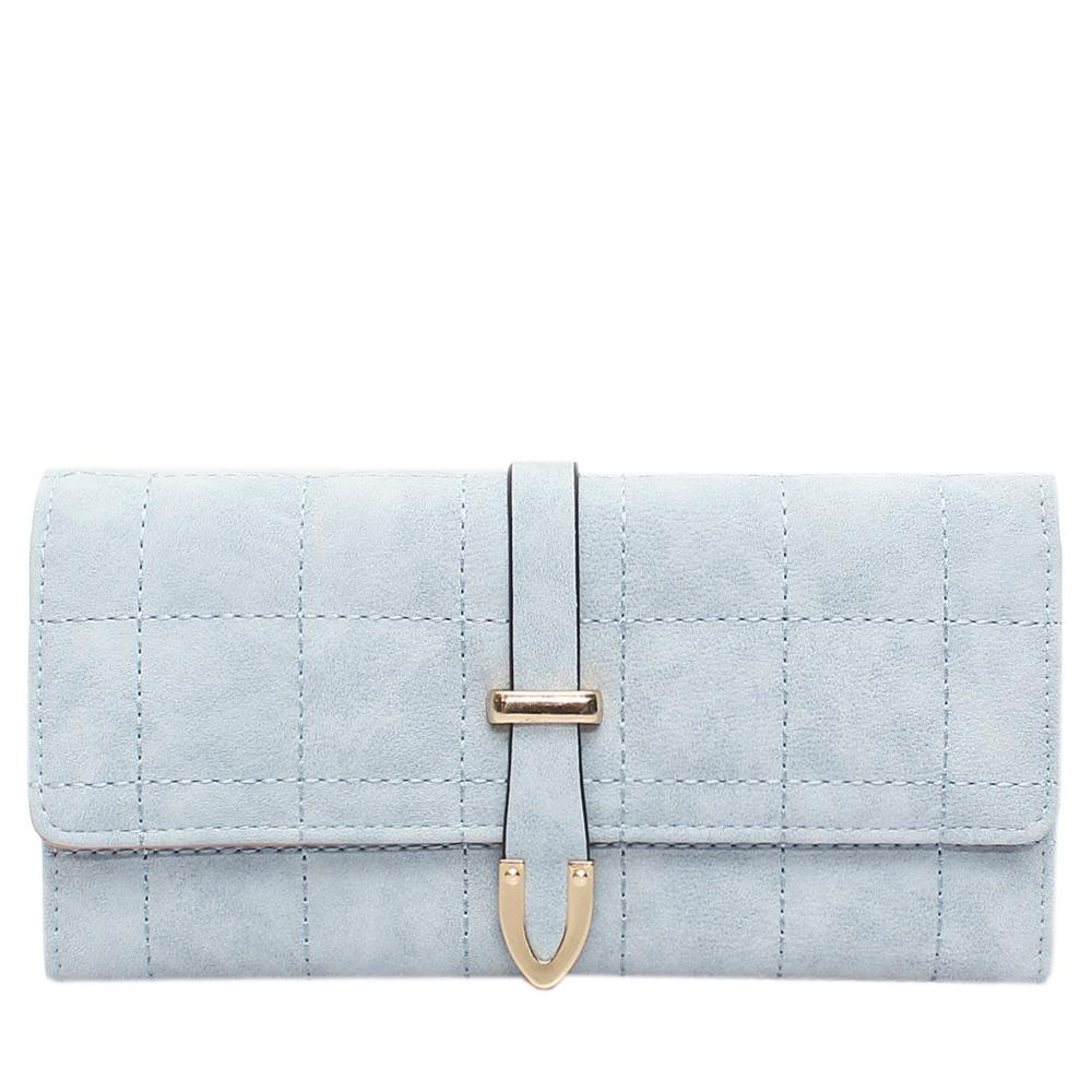 Nubuck Sky Blue Leather Ladies Wallet