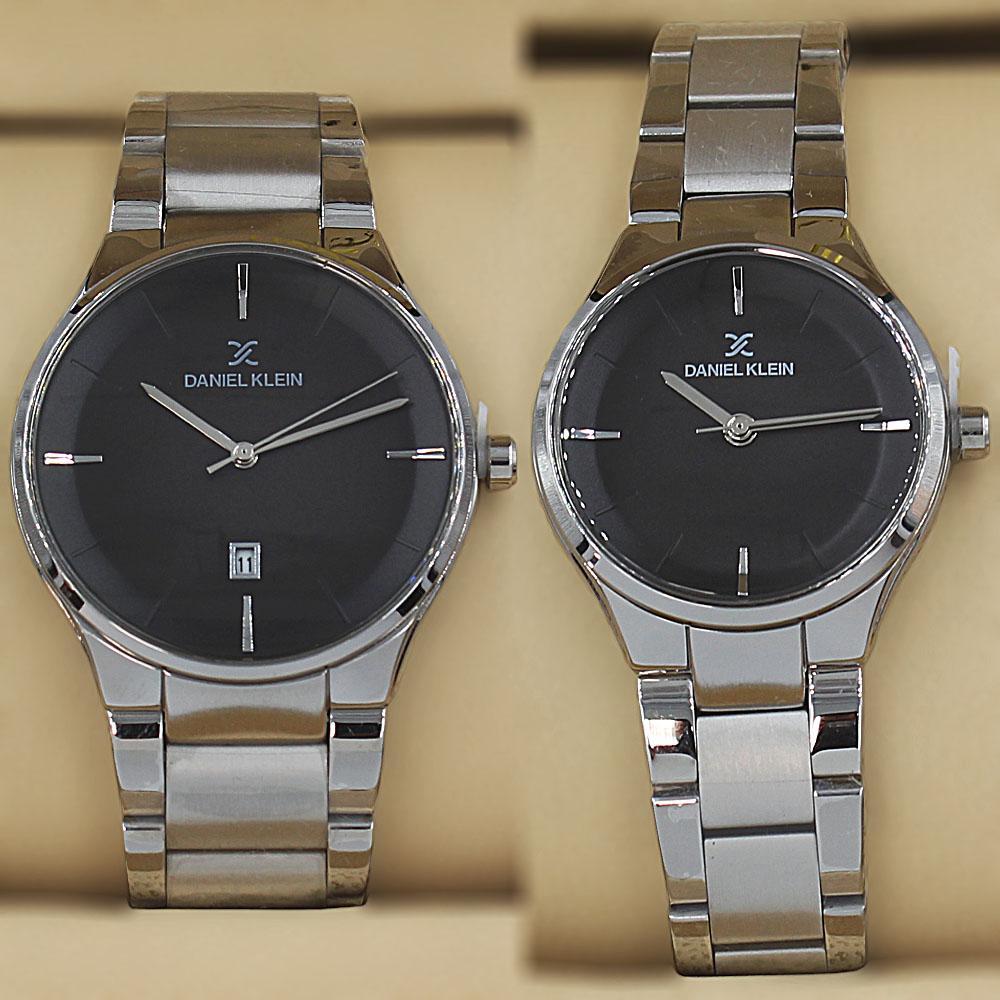 Daniel Klein Adora Silver Stainless Steel Couples Watch