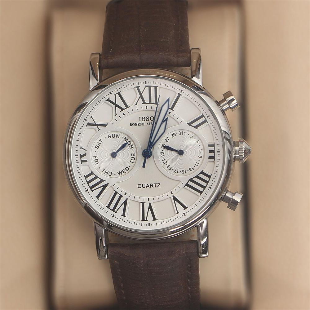 Martinez Coffee Leather Classic Ladies Watch