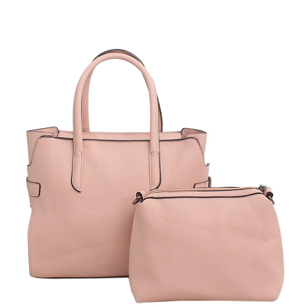 Toon Barbie Leather Tote Bag Wt Purse