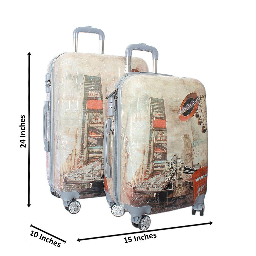 London Underground 24 inch wt 20 inch 2-in-1 Hardshell Spinners Suitcase Se