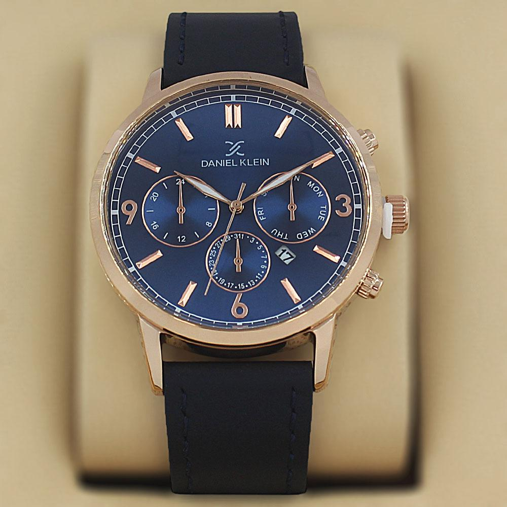 Daniel Klein Dante Navy Leather Fashion Series Watch