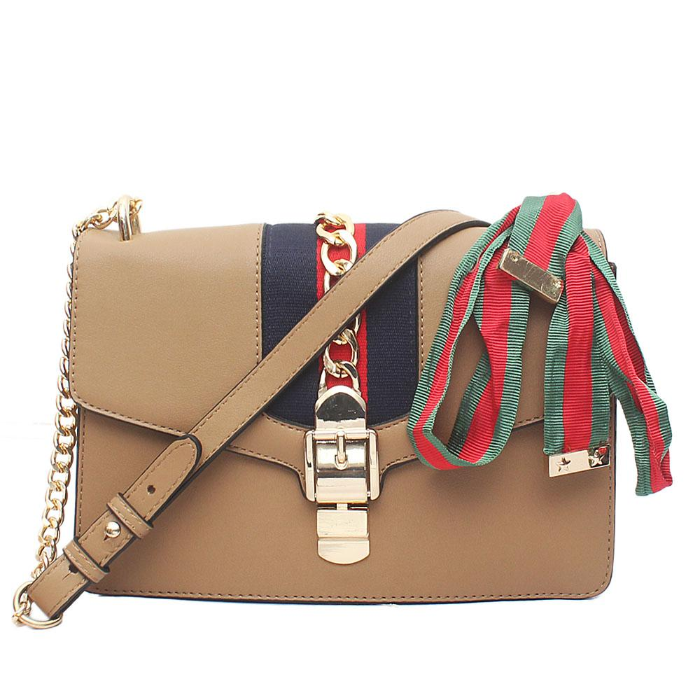 Astandard Khaki - Brown Leather Crossbody Bag