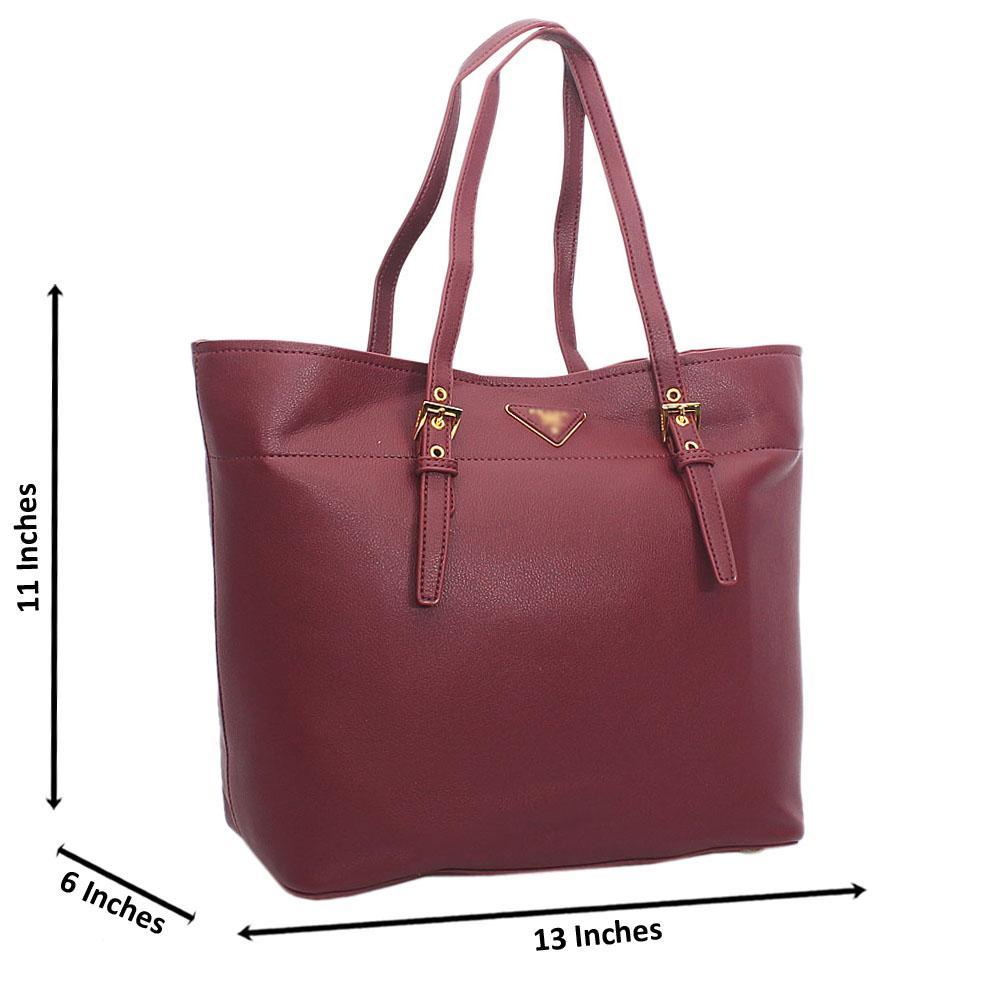 Rose Purple Tuscany Leather Shoulder Handbag