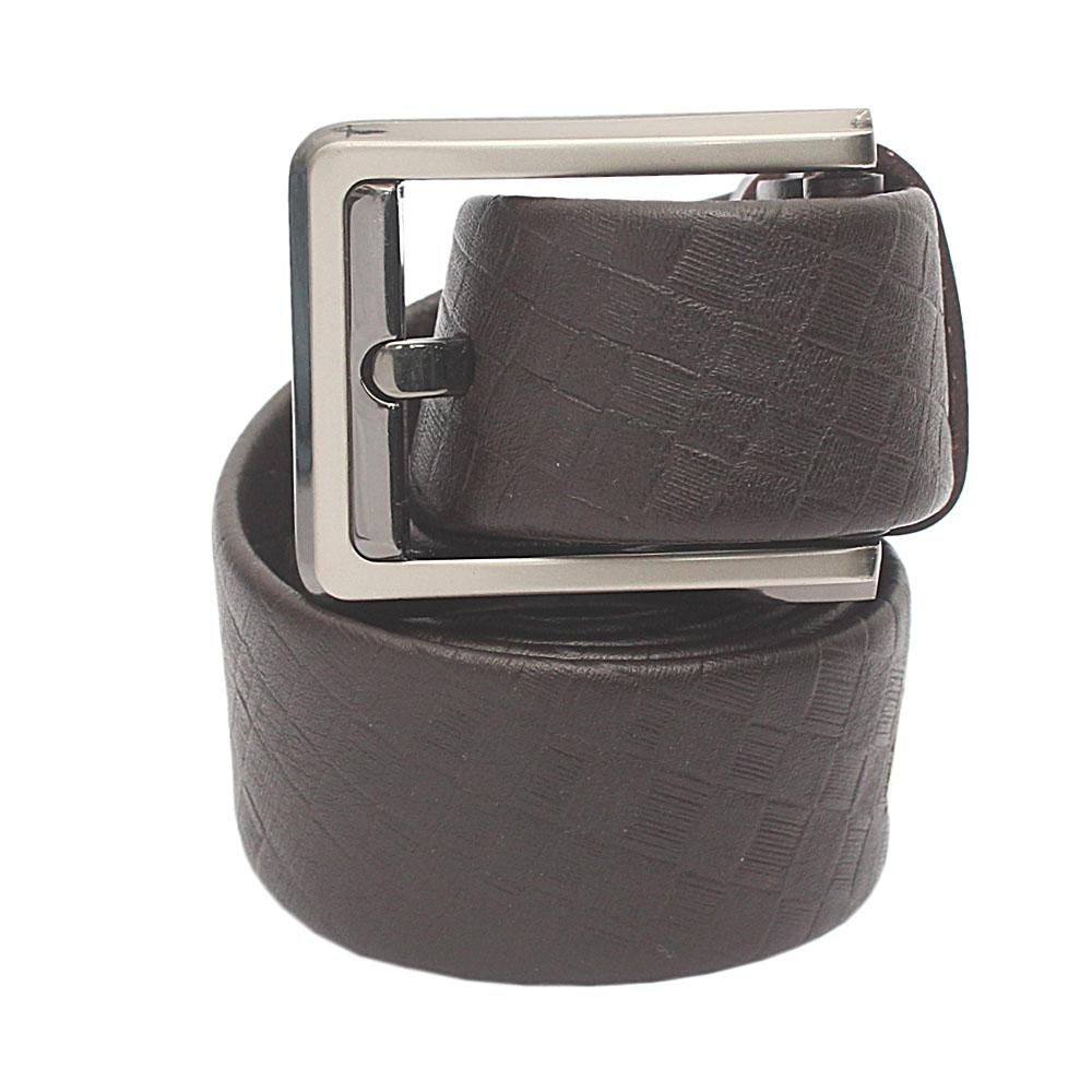 Brown Woven Pattern Classic Belt L 50 Inches