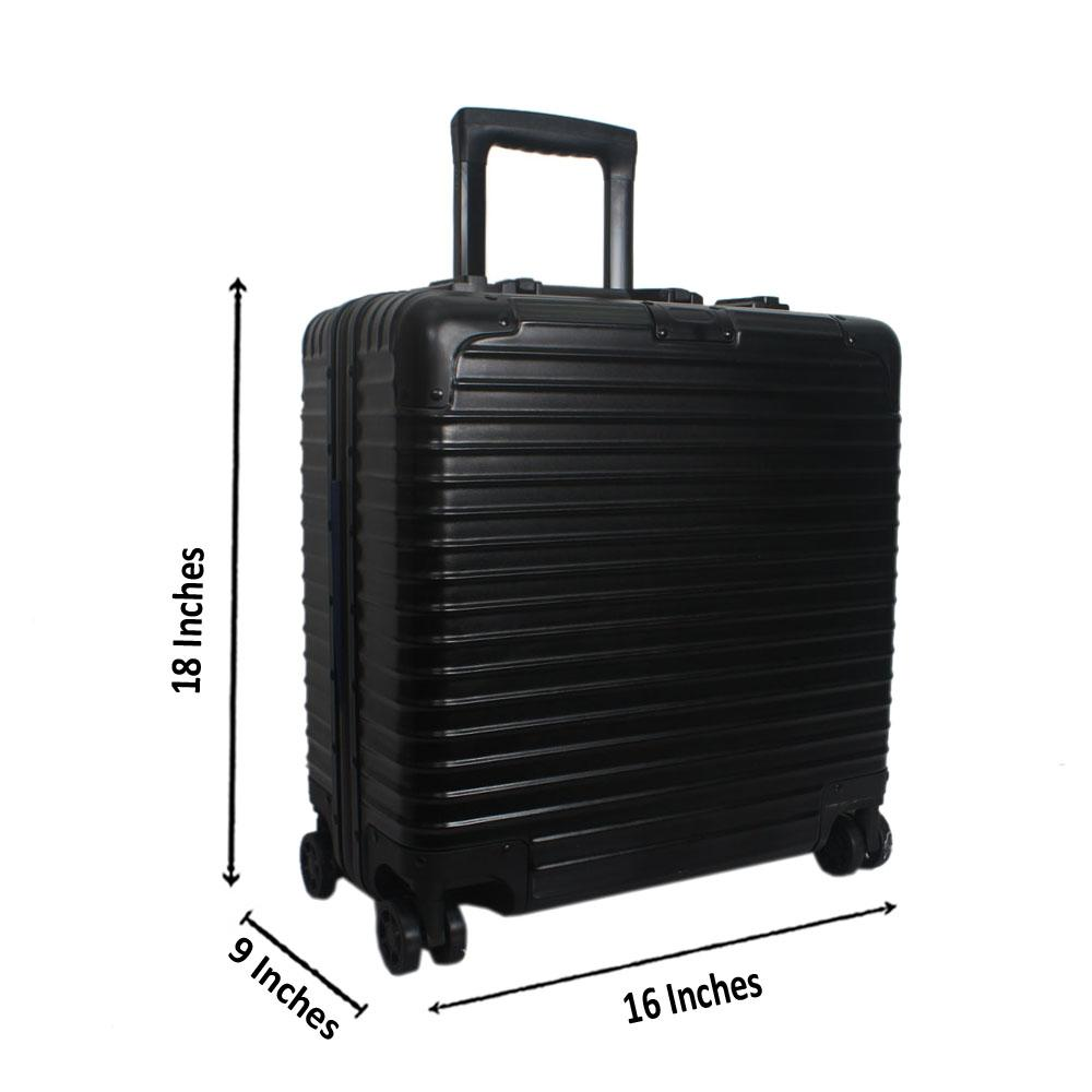 Black 18 Inch Hardshell Pilot Suitcase Wt TSA Lock