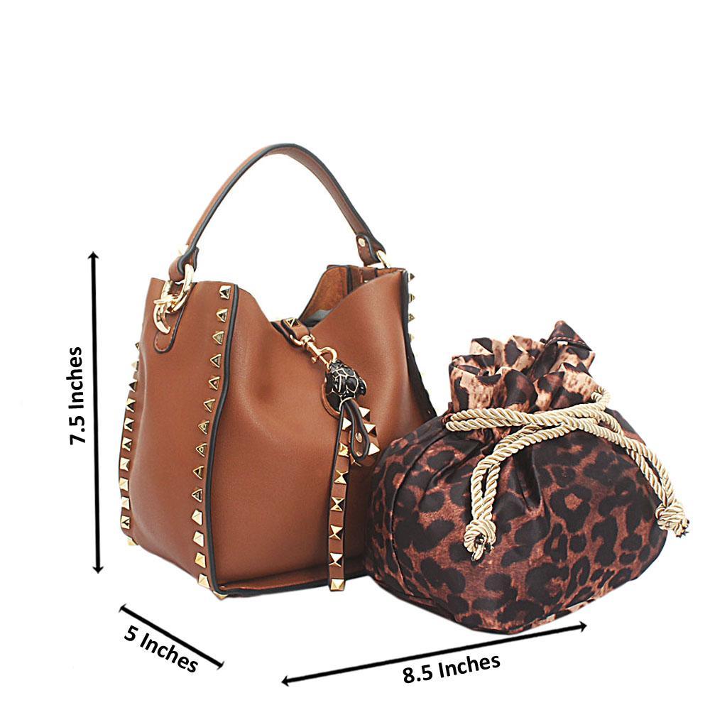 Brown Mini Montana Leather Handbag