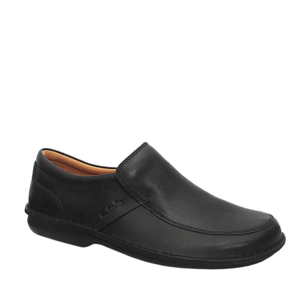 Clarks Active Air Black Leather Shoe