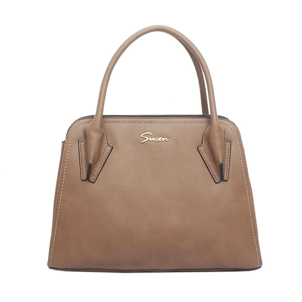 Susen Brown Leather Handbag