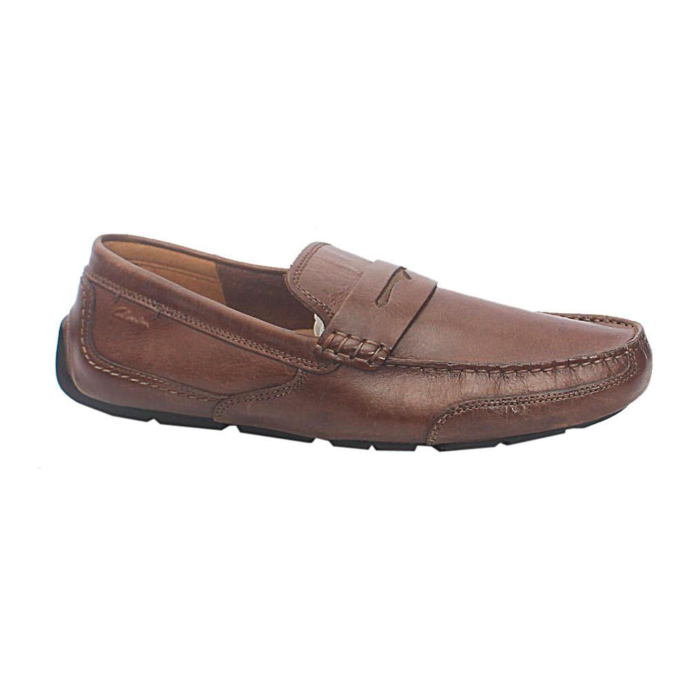 Clarks Ortholite Brown Leather Loafers