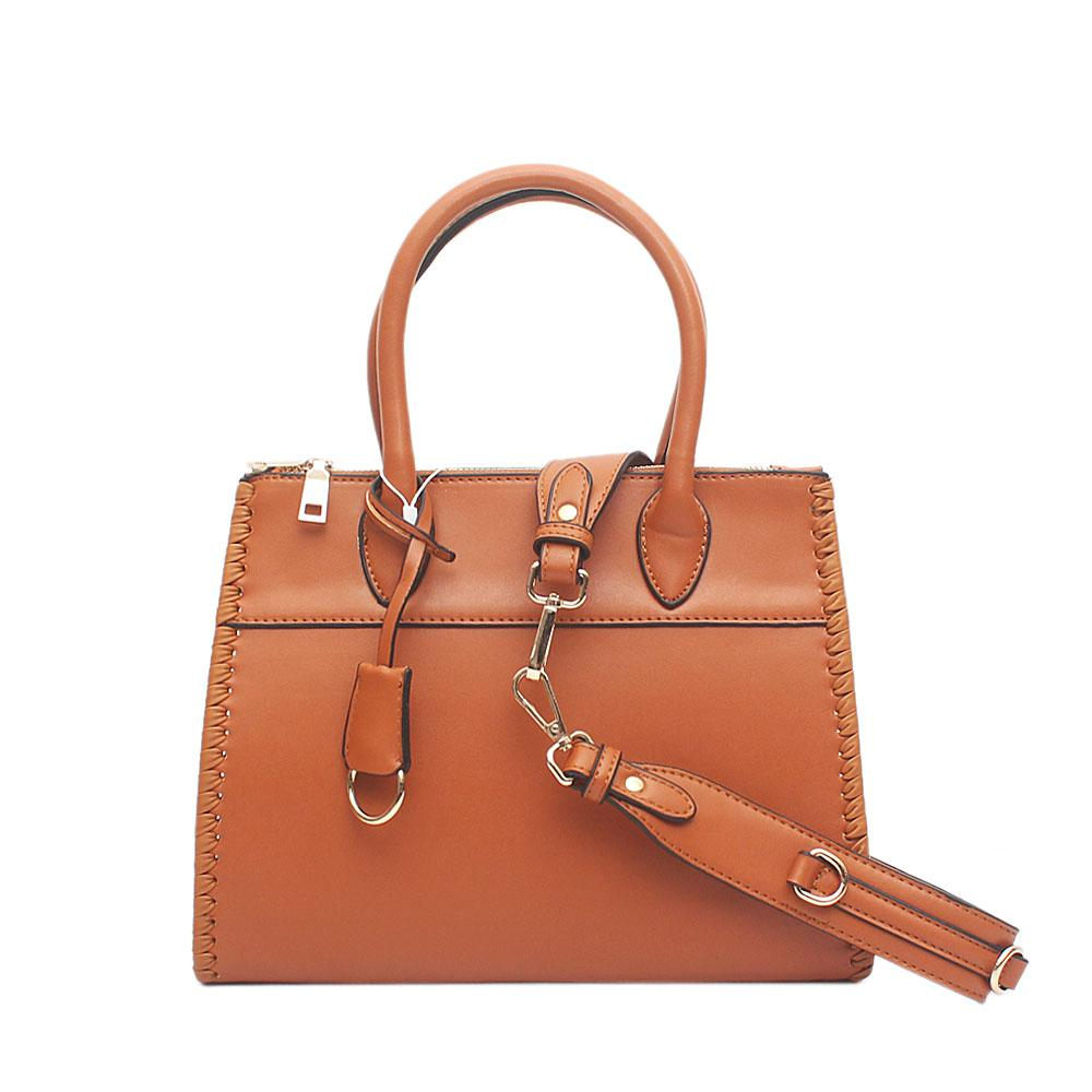 London Style Swift Brown Leather Tote Bag