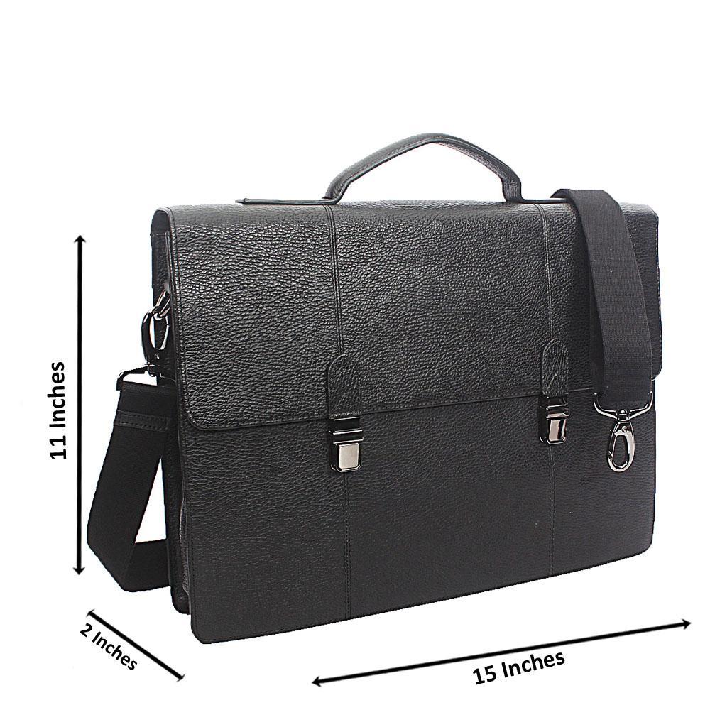 Marks & Spencer Black Leather Briefcase