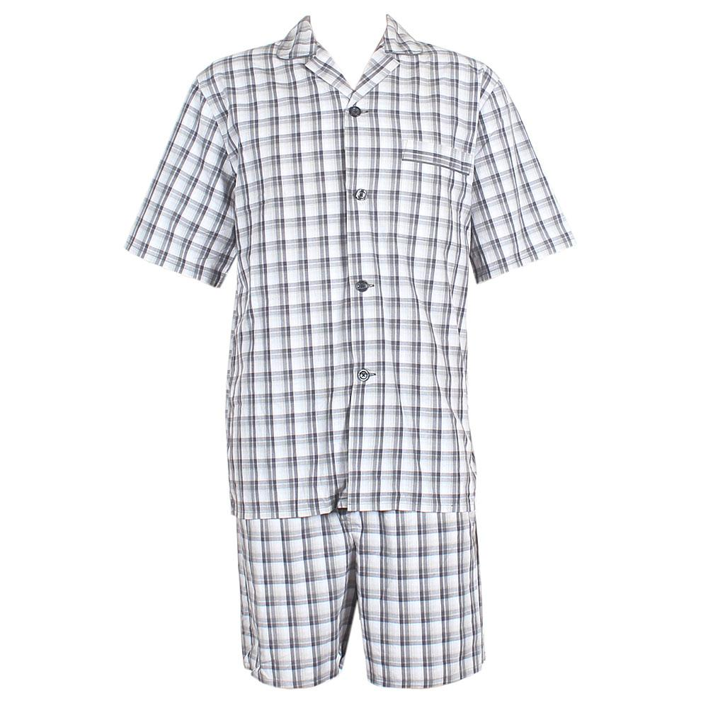 M & S Black Mix Check Supersoft  Shortie Men Pyjamas