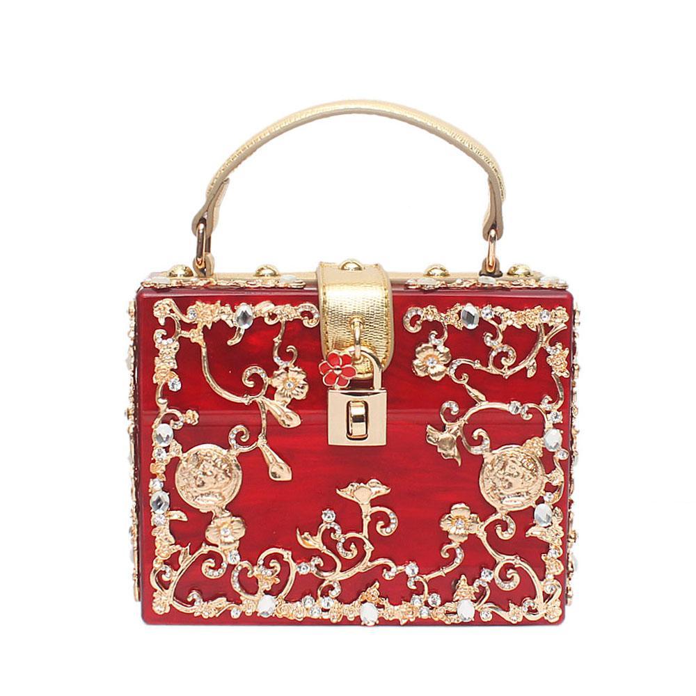 Prima Red Plastic Box Bag