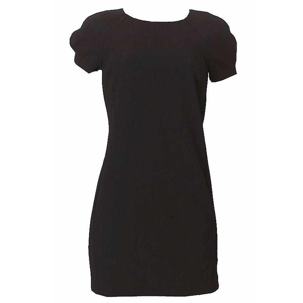 M & S Collection Black S/Sleeve Non Iron Mini Dress-Uk 10