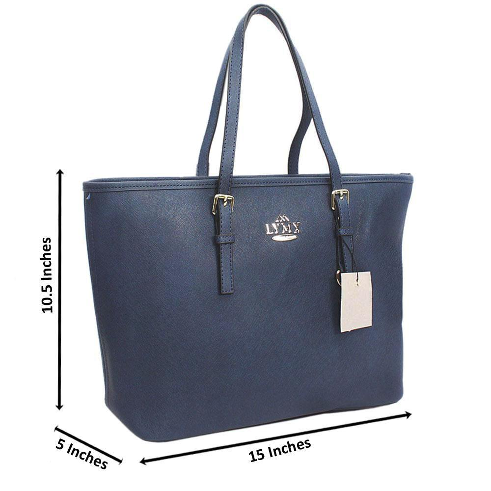 Berry Blue Median Jet Set Item Shoulder Handbag