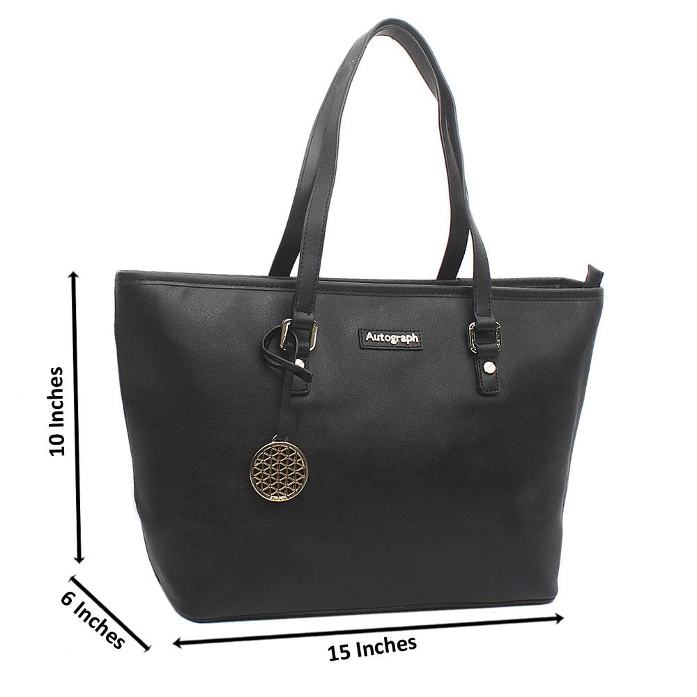 Black Large Autograph Leather Handbag
