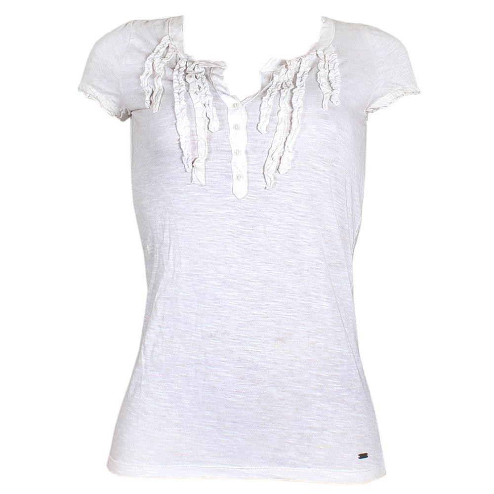 Aeropostale White Ladies Top wt Pleated Front Sz XS