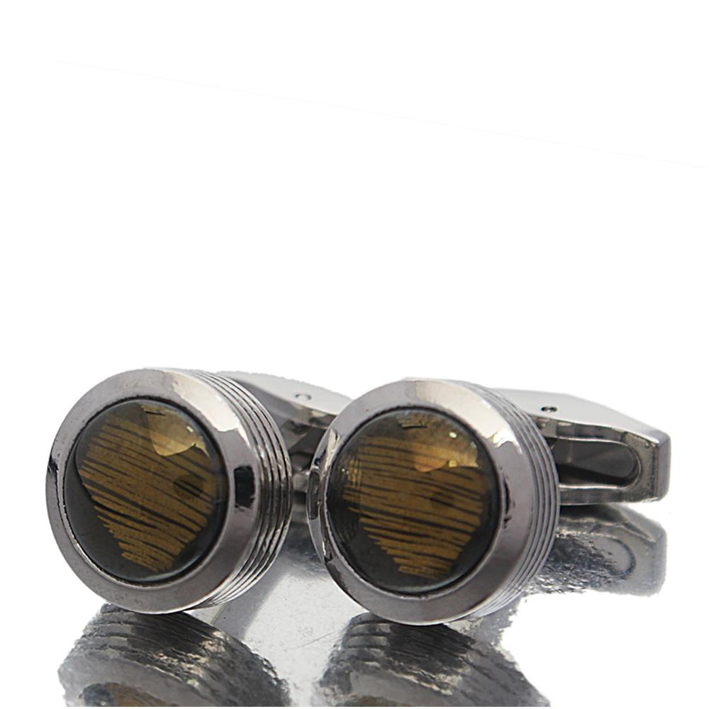 Silver Pearl Stainless Steel Cufflinks