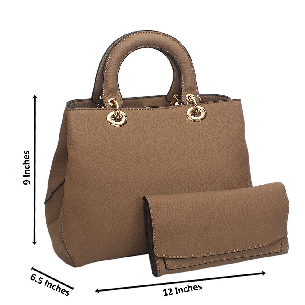 Kya Cuite Khaki Leather Tote Handbag