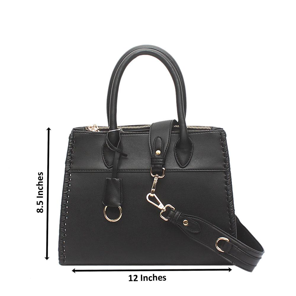 Swift Barbie Black Leather Tote Bag