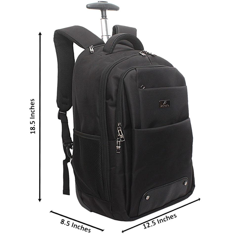 Marcello-Black-Premium-Fabric-Trolley-Backpack