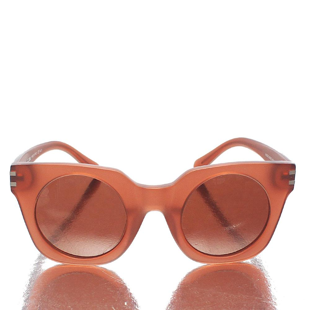Brown Wayfarer Round Lens Sunglasses