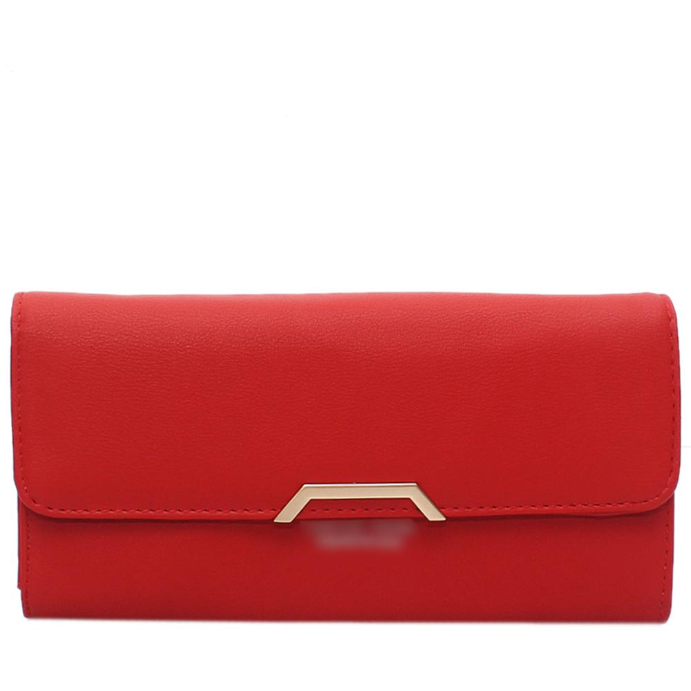 Red Leather Ladies Wallet