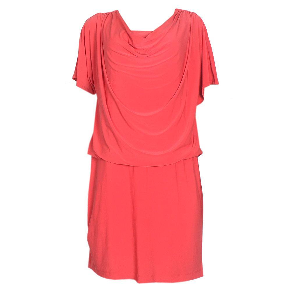 Ronni Nicole Orange Stretchy Ladies Dress