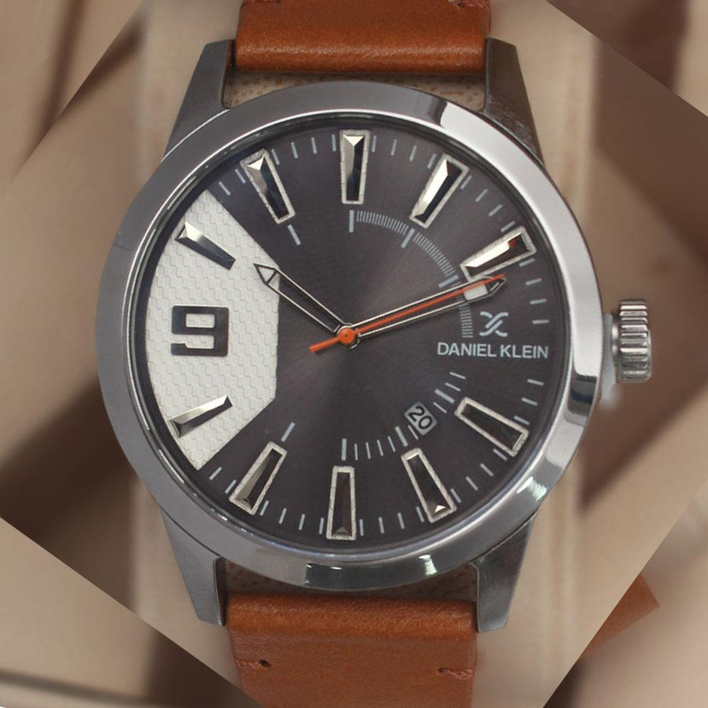 Daniel Klein Aticcus Brown Leather Watch