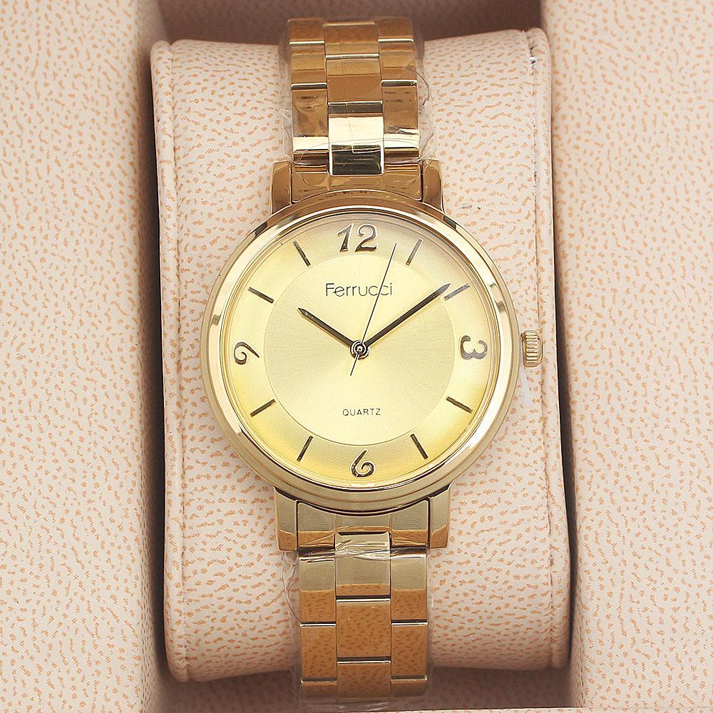 Ferrucci Mario Gold Strap Ladies Watch