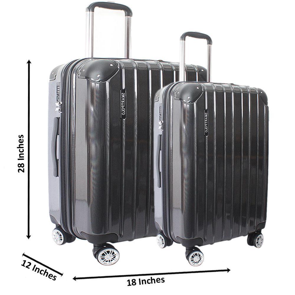 Black 28 Inch Wt 24 Inch Hardshell 2 in 1 Premium Suitcase Wt TSA Lock