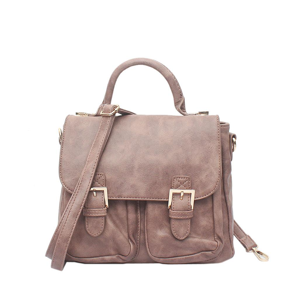 Sicily Khaki -Brown Leather Bag